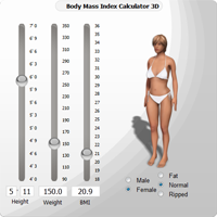 3D BMI Calculator