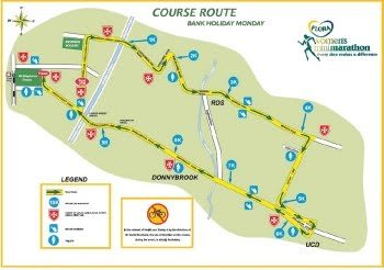 Flora Women's Mini Marathon Route 2012
