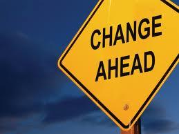 Change Ahead Sign-Post