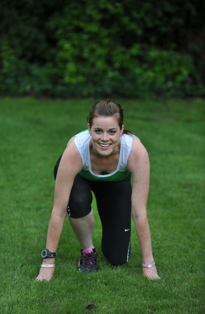 Hannah Nolan from Why Weight Ireland in Race Starting Pose