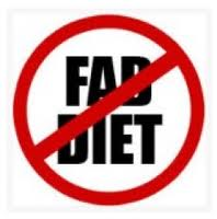 No Fad Diets Sign