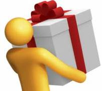 Man carrying a gift box