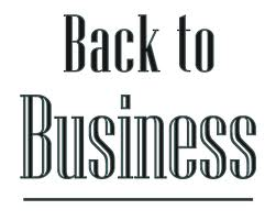 Back to Business Sign