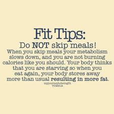 Don't Skip Meals Post Pregnancy