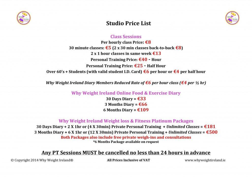 Why Weight Ireland Local Price List