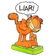 Celebrate with Garfield Liar on scales