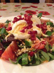 Egg Salad with Wensleydale Cheese