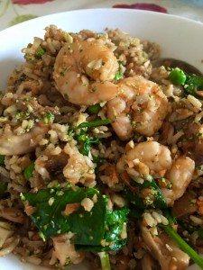 Chinese Jumbo Prawns with Wholegrain Basmati Rice