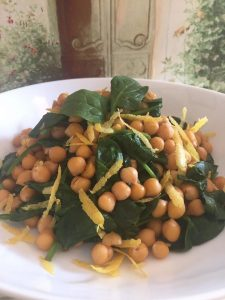 Organise Your Weight Loss - Warm Chickpeas with Spinach, Lemon & Harissa